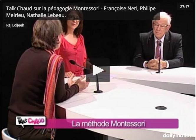 Talk Chaud – La Pédagogie Montessori