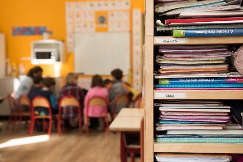 casiers école Montessori Vernouillet