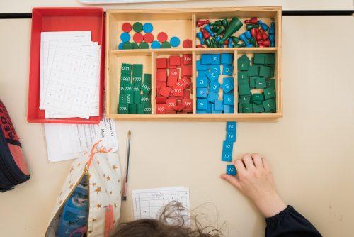 mathématiques école Montessori Vernouillet