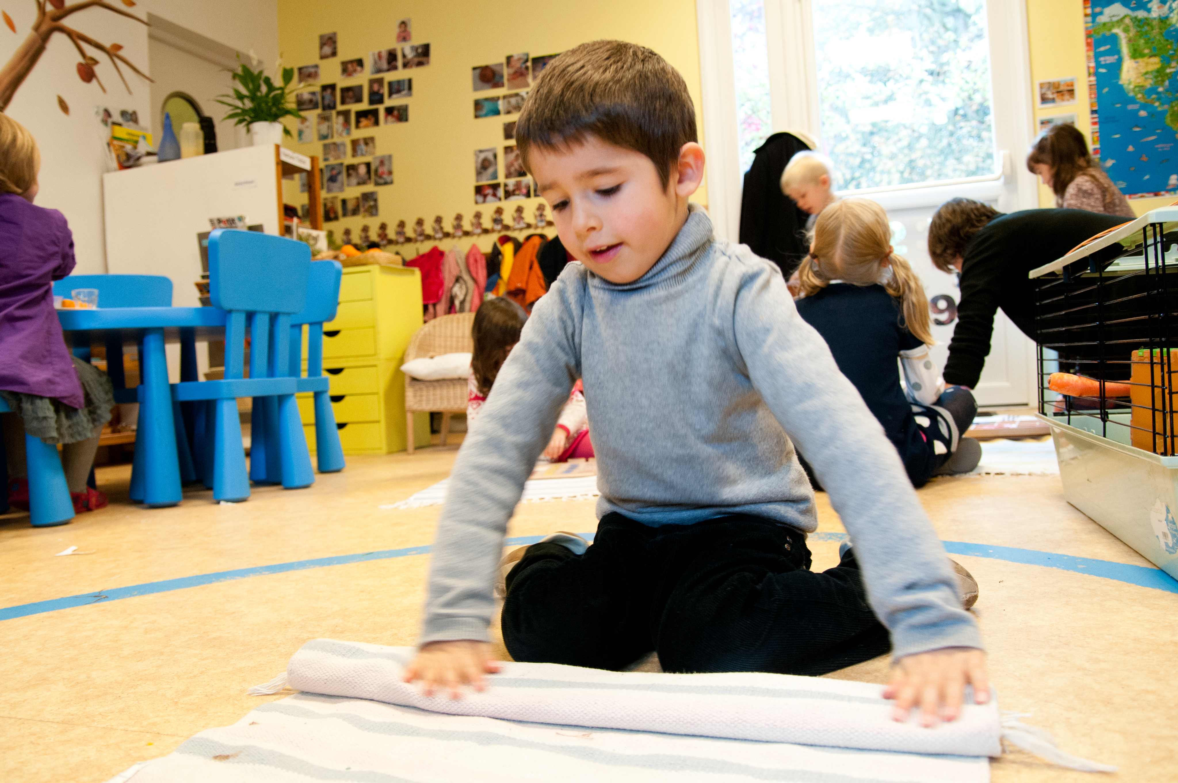 montessori method is for pre school children only Montessori studied these children and noted  every exercise and every method that dr montessori developed was based on what  toys found in a pre-school.