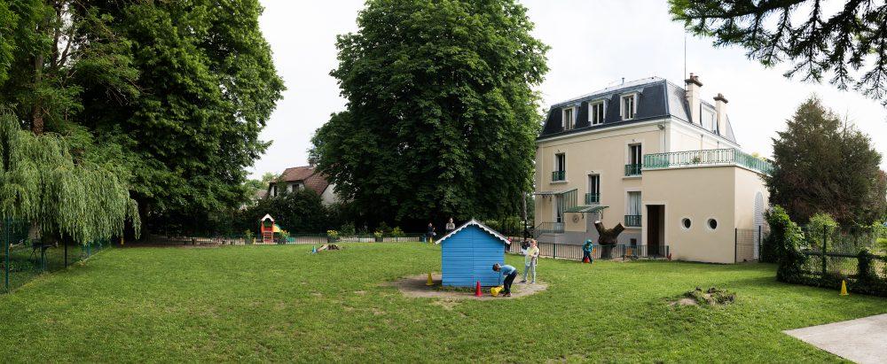 vue du jardin école Secrets d'enfance Vernouillet 78